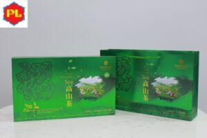 Trà ô long (oolong) Kim Tuyên Phước Lạc hộp xanh 500g